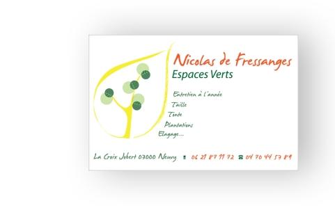 Carte de visite Nicolas de Fressanges